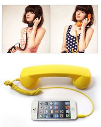 Wholesale Newest Retro Headset MM Telephone Receiver Anti radiation Mobile Phone Handset Earphone Headphone for iphone HTC Samsung Cellphone DHL