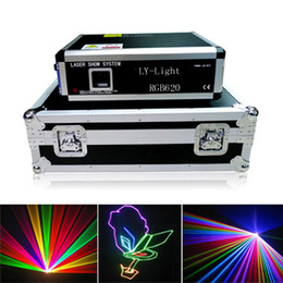 Wholesale 5W SD Analog Modulation RGB laser light full color laser light lighting equipments with flight case