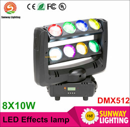 Wholesale 2016 BEST x10 Watt led spider effects lights moving head stage lighting beam light DMX512 DJ lights