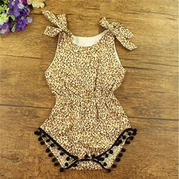 Easter Baby Clothes ,Cheetah Printed Cotton Pom Baby Bubble Romper ,3T Girls Toddler Playsuit ,Bow Sleeveless petti baby romper