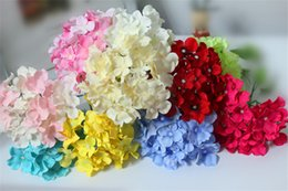 Free shipping Artificial Hydrangea Flower Head For Diy Wedding Wall Flower Bouquet Wreath Garland Home Decorative Flower