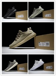 Wholesale 1 quality with original box cheap boost buy boost shoes kayne west basketball shoes pirate black moonrock oxford tan US12