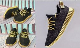 Wholesale Cheap boost Black gold sole new color Boost mens sneakers shoes running mesh best quality