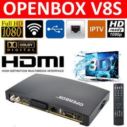 Wholesale 2016 Openbox V8S Digital Satellite Receiver S V8 S V8 Support WEBTV Biss Key x USB Slot USB Wifi G Youtube Youporn CCCAMD NEWCAMD