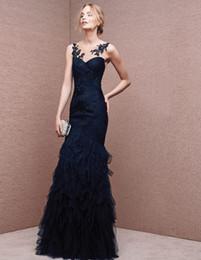 Wholesale Vintage mermaid Evening Dresses plus size Evening gowns Heart shaped collar Pleats Applique long Evening Dresses Manufacturer