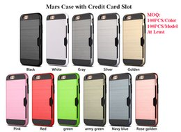 Hybrid Lars Mars Case Defender Armor Cases with Credit Card Holder for iPhone X 8 7 7 Plus 6S 5S Aristo J3 Prime