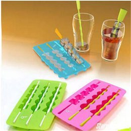 Wholesale-Household bar Ice cream tools More style Quality thick plastic bottom silicone ice cube tray ice bucket free shipping