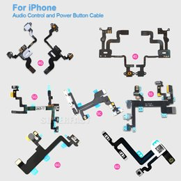 Wholesale For iPhone S C S Plus S SPlus High Quality Power Button And Volume Audio Control Sensor Flex Cable Replacement DHL Free