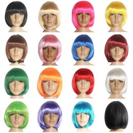 Wholesale New fashion style short synthetic bob wigs with many colors