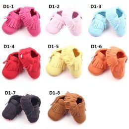 La conception de chaussures de couleur en Ligne-Vente en gros nouvelle conception d'emboutissage Tassel doux Sole Cotton couleurs différentes chaussures bébé pour fille et Boy Livraison gratuite Fedex