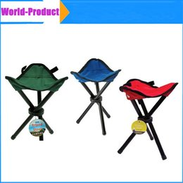 Wholesale Folding Camping Hiking Fishing Picnic Garden BBQ Stool Tripod Chair Seat Outdoor