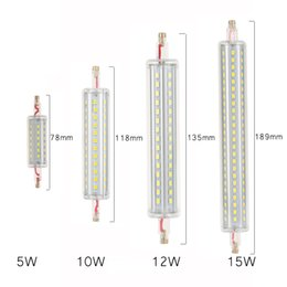 Canada R7S Ampoule LED 5W 10W 12W 15W SMD2835 85-265V Dimmable 78mm 118mm 135mm Lampe LED 189mm Lampe R7S Light Replace Halogen Light Floodlight halogen lamp 15w led promotion Offre