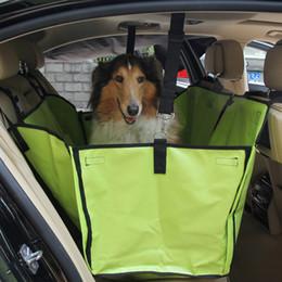 Скидка чехлы собаки сиденье Новый дизайн безопасности водонепроницаемый Pet Carrier Seat Cover Protector Fold собака путешествия гамак одеяло два сиденья JJ0080