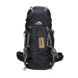 Wholesale 2016 L Climbing Backpack Waterproof Outdoor Sport Bags Hiking Trekking Camping Mountaineering Knapsack with Rain Cover