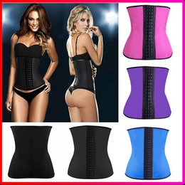 Wholesale 100 Women Latex Corset Steel Boned Waist Trained Corsets Colors Women Bustier Sport Latex Body Shaper