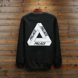 Wholesale-2016 Fashion Men Palace black and Navy skateboard Hoodies Thick Mens solid sweatershirt palace Brand clothing