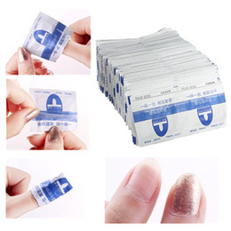 Wholesale 200Pcs Nail Resurrection Make Up Tools Fashion Easy Use Paper Towel Nail Art Polish Vanish Remover Nail Tools