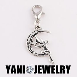 Wholesale Fashion Antique Silver Gold Angel Charms DIY Floating Dangle Charm Floating Locket Pendant with Lobster Clasp for Glass Locket