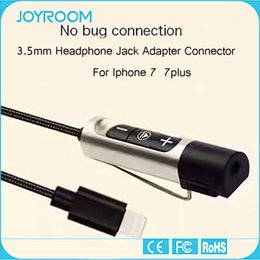 Wholesale Iphone Headphone Jack Adapter Connector JOYROOM mm Aluminum Charging and Music Cable for iphone plus