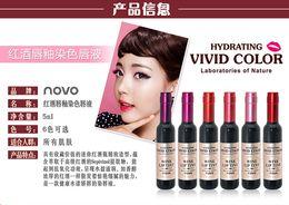 Wholesale NOVO HYDRATING VIVID COLOR wine lip tint laboratories of Nature beautiful seduce colors high quality