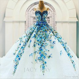 Wholesale Jacy Kay Luxury Wedding Dresses Real Image Sweetheart Sleeveless Crystal Bridal Gowns Beads Backless Wedding Dress Cathedral Train