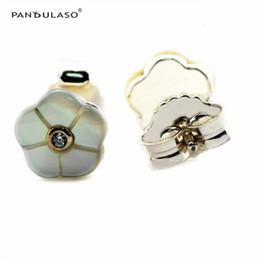 Sterling-Silver Earings Luminous Florals Stud Earrings European Style Earrings Studs Fashion Jewelry wholesale Free Shipping Flower Earrings