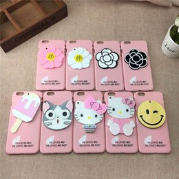 Pink Fashion Cell Phone Cases Flowers Ice Cream Cats Hello Kitty Smile Phone Covers for iphone 6s 6 48