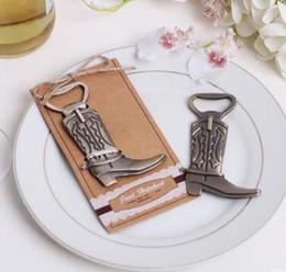Wedding favors gifts bronze high heel metal Boots shoes beer bottle opener
