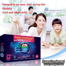 Wholesale Super Condensed Laundry Detergent Sheets with Germany Nano Technology no phosphor no harmful chemicals Powerful clean