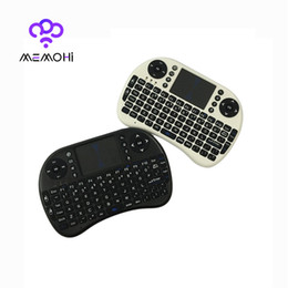 Wholesale MEMOBOX I8 Mini Keyboard English Air Mouse MultiMedia Remote Control Touchpad Handheld for Android TV BOX Notebook Mini PC