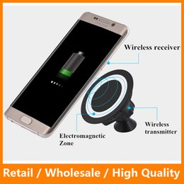Wholesale Universal QI Wireless Car Charger Charging Adapter Pad Credle Sticky Magnetic Phone Holder Mount Wireless Charging Pad for iPhone Samsung