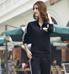 Wholesale Sports suit male spring and summer new Korean version of the lovers sweater men s yards Slim casual sportswear female