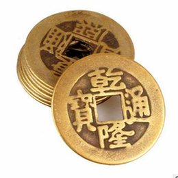 Wholesale Feng shui qing dynasty of Chinese history of pure copper size copper ancient COINS scattered money five emperors in the qing dynasty