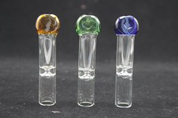 Wholesale Colorful Mini handle glass pipes Glass bubbler smoking pipes Spoon Bubbler Hybrid Spill Proof smoking bong