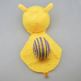 New Arrival Hot Baby Newborn photography props snails Knit Crochet Clothes Beanie Hat Outfit Photo Props Drop
