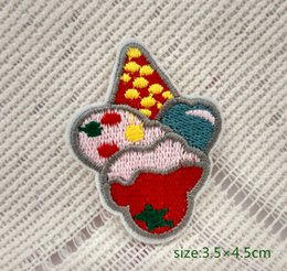 Ice Cream Cone Motif Snacks Food Iron On HOTFIX Patch Applique Embroidery Girl Cartoon Shirt Kids Toy Gift baby Decorate Individuality 10pc