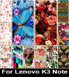 Wholesale Printed Beautiful Rose Flower Painted PC Cover Case For Lenovo K3 Note quot Mobile Phone Case Cover Shell Capa Lenovo A7000
