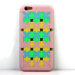 Wholesale Jigsaw Puzzle Phone Case Cover Change Shell Durable Case coloring High Quality For iPhone iPhone I Phone plus