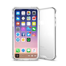 For Apple iPhone X Hybrid TPU Soft Bumper Frame Clear Crystal Back Cover Protective Phone Case Coque