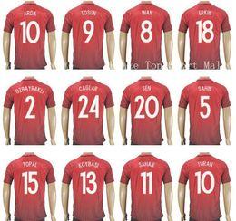 Wholesale 2016 Soccer Turkey Jersey ARDA TOSUN Football Shirt TUFAN TOPA INAN ERKIN CAGLAR OZTEKIN SEN MALLI CALHANOGLU
