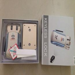Wholesale Europe keyless locks Stainless steel anti theft electric home door lock remote control lock
