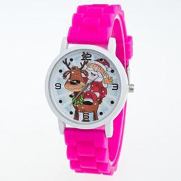 2017 relojes de pulsera piezas Nuevamente diseñe los niños de los cabritos embroma el reloj de la jalea del gel del silicón de la historieta del regalo de la Navidad que envía libremente 50 pedazos presupuesto relojes de pulsera piezas