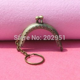 Wholesale Luggage Bags Bag Parts Accessories DIY Cute Mini cm Antique bronze Metal Purse Frame with key ring Handle for Bag Sewing