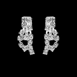 Wholesale Bling Bling Earring Set Rhinestones Ear Stud typ Silver plated Evening Party Wedding Ear Cuff In Stock