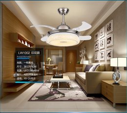 LED stealth folding ceiling fan lights Minimalism modern living room bedroom dining room fan light ceiling light fan 42inch