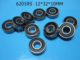 6201RS bearing rubber sealing bearings Free shipping 6201 6201RS 12*32*10mm chrome steel deep groove bearing