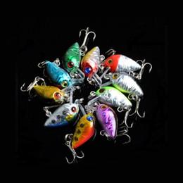 """2pcs lot 10 Colour MINI Vibration Lure Bait Laser Minnow fishing gear bionic bait lures Fishing lures 1.5g 3cm   1.18"""""""