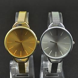 Wholesale Fashion C Brand women men Unisex gold silver Steel Metal Band quartz K wrist watch C02