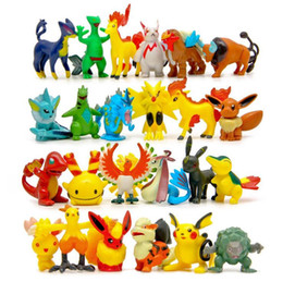 Wholesale Poke game Styles Poke Figures Toys Pikachu Charizard Eevee Bulbasaur Suicune PVC Mini Model Toys For Children