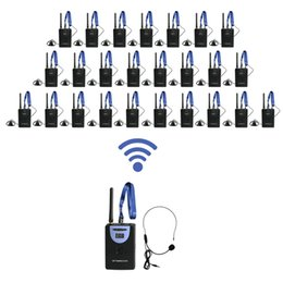 Wholesale WTG02 Wireless Tour Guide System Wiireless Translation System for Tour guiding tourist conference transmitter receivers Pieces